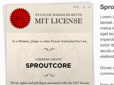 MIT License license paper