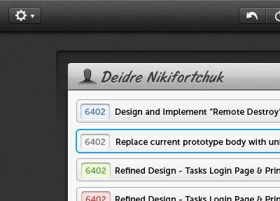 tasks for SproutCore - Refined List list dark tasks app sproutcore