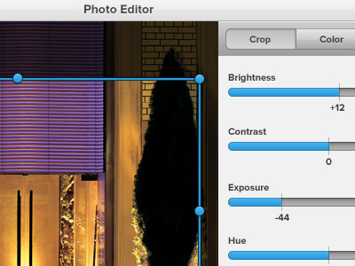 Unnamed Web App editor crop tabs slider
