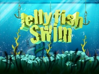 Jellyfish Swim App - Logo + scenery