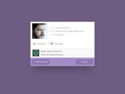 UI | Profile Menu