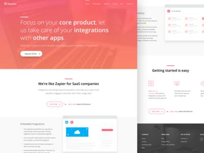 Saasler - Homepage website pages icons integrations homepage landing clean