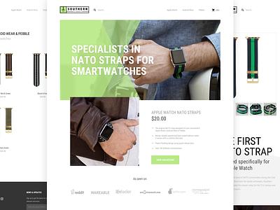 SouthernStraps - Website shopify ui nato watch apple strap website strore ecommerce