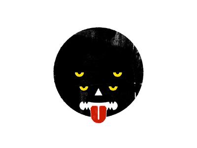 Monster tongue geometric grunge texture grunge circle 4 eyes beast monsters monster