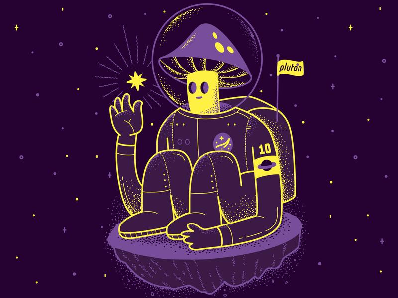 Mushroomnaut! space espacio astronauta hongo uruguay illustrator vector illustration mushroom character astronaut