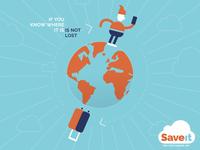 Is not lost! travel character logo vector illustrator uruguay ilustración illustration