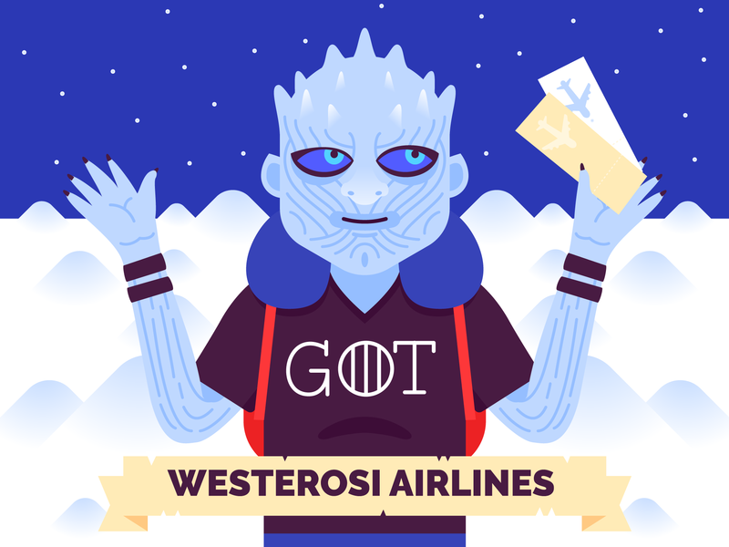 Traveling Night King vector travel airlines king night got game of thrones