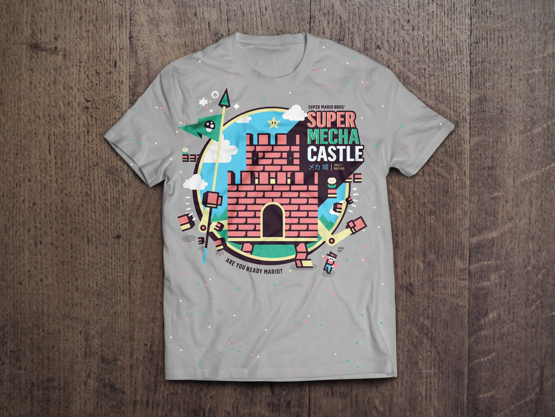 Super Mecha Castle Mario Bros' Shirt