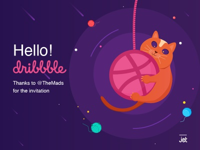 The first time to meet you hello first-shot design cat debut