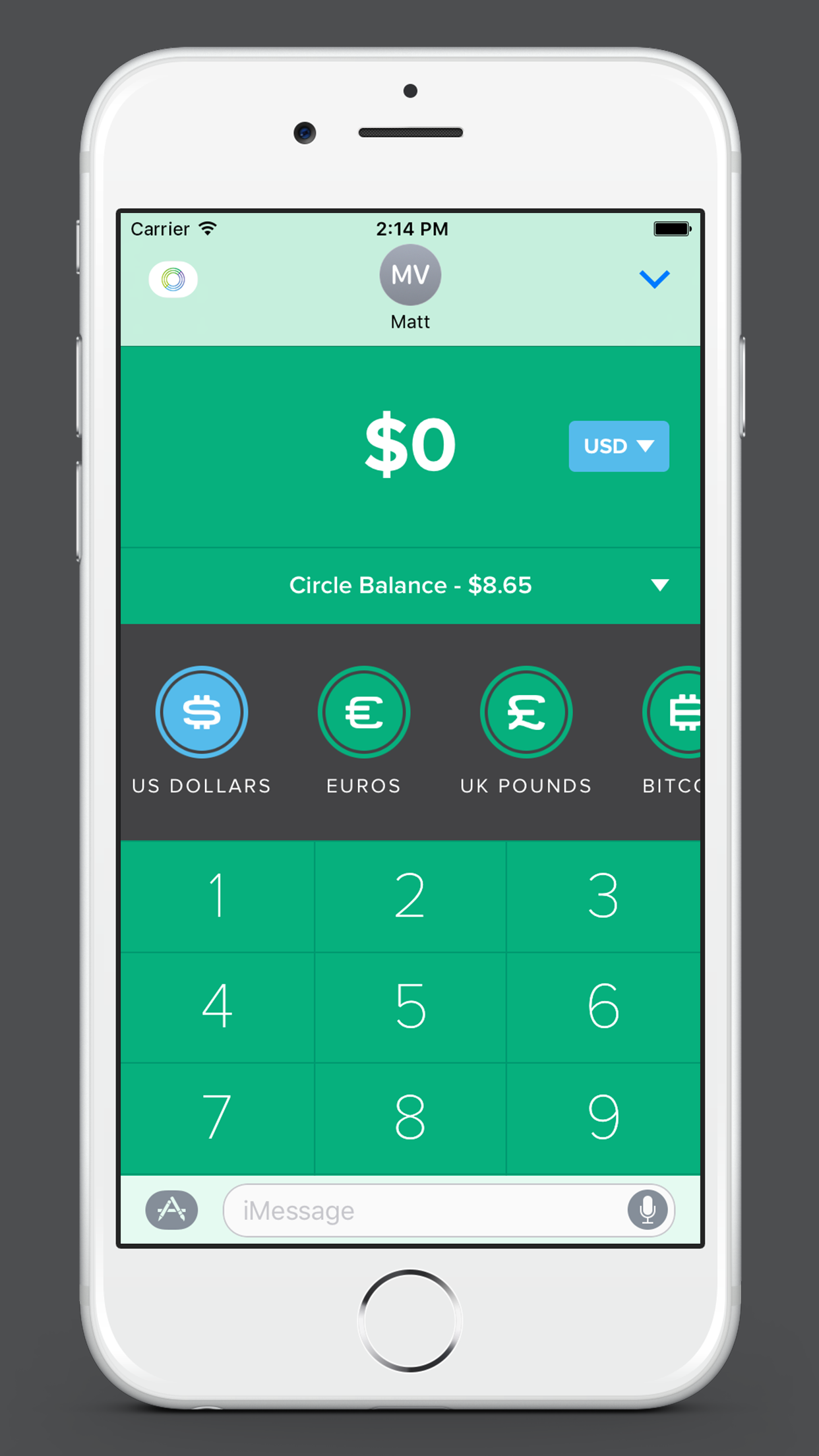 Circle imessage app 04