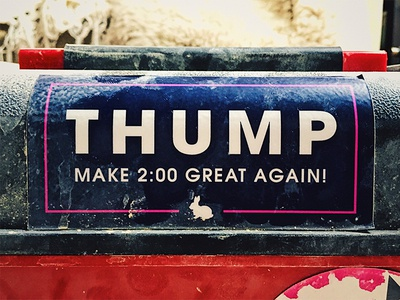Thump print sticker