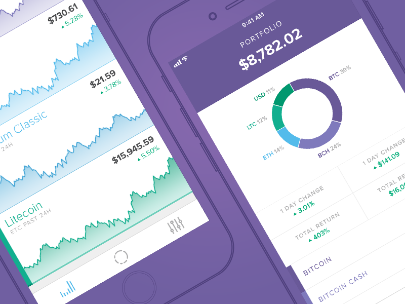 Circle Invest purple iphone ios app ethereum bitcoin crypto