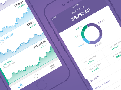 Circle Invest purple iphone ios app ethereum bitcoin crypto