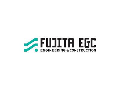 Fujita E&C construction modern simple mark logo