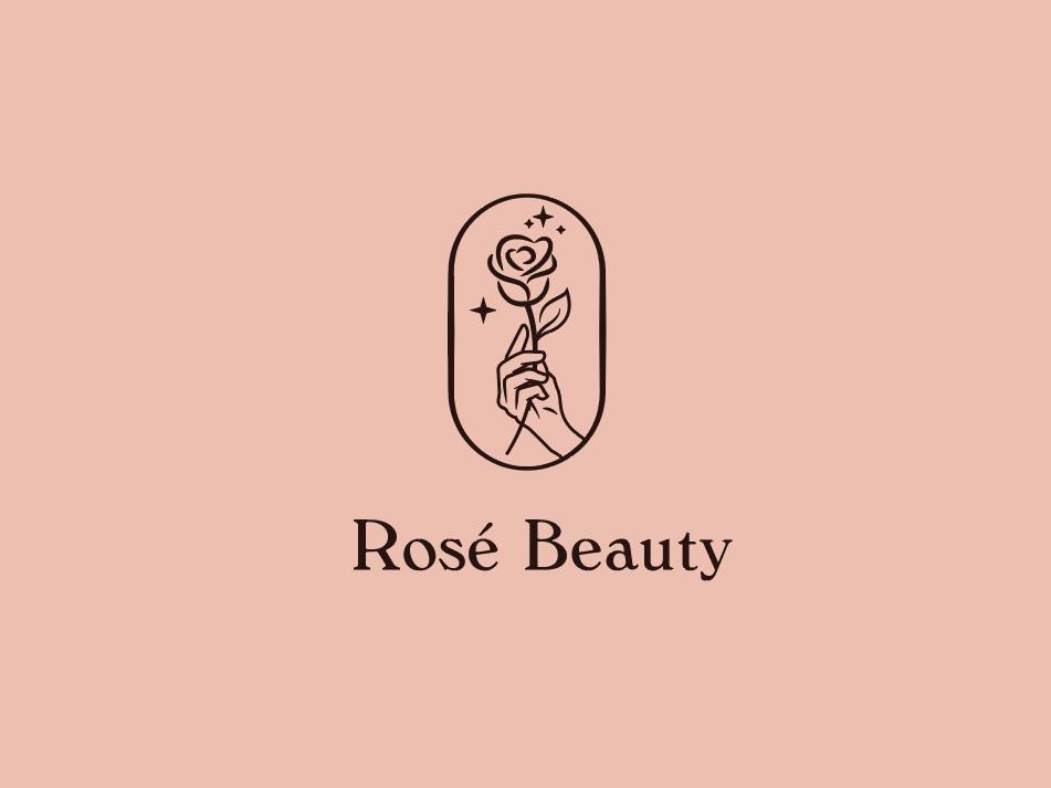 Rosé Beauty luxury illustration aesthetic marks creative line art logo