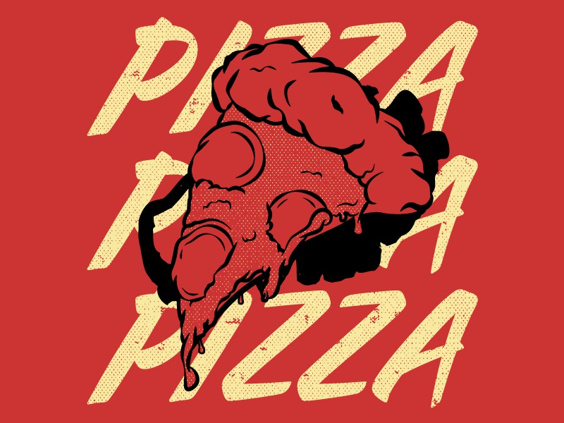 Pizza, pizza, pizza shirt pepperoni cheese midwest shirt design ink pizza
