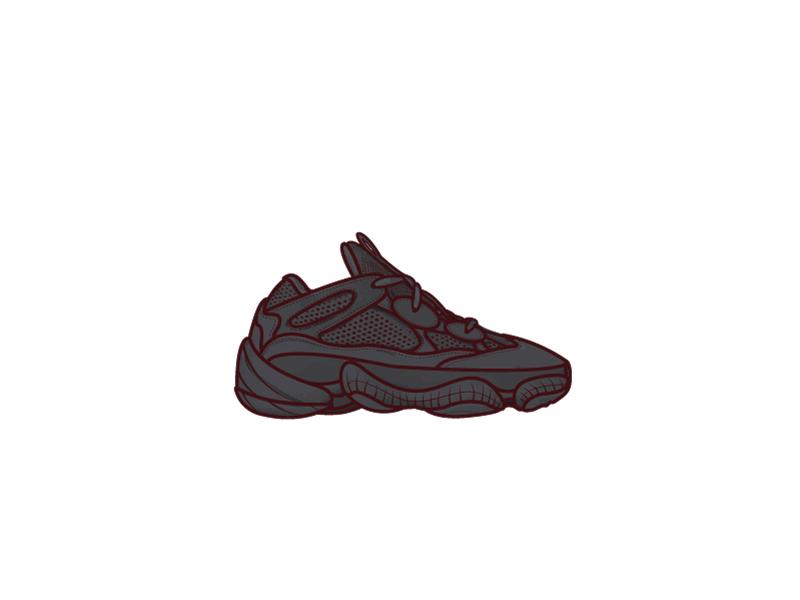 """""""Utility Black"""" Adidas Yeezy Desert Rat 500 kanye complex hypebeast adobe texture back midwest sneaker shoes desert rat 500 yeezy adidas"""