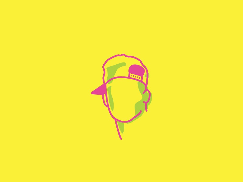 Fresh Prince Lines illustration philly midwest illustrator portrait green yellow pink lines minimal will smith