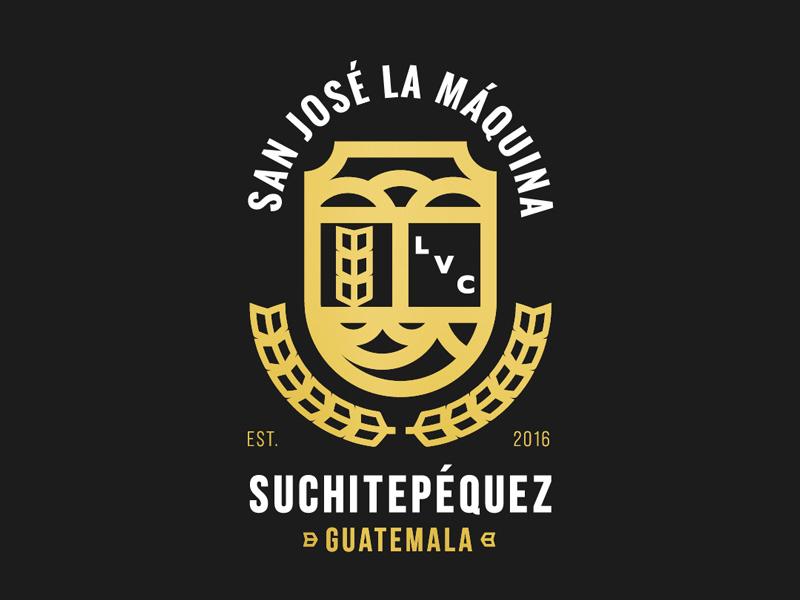 San José La Maquina, Suchitepéquez, Guatemala tshirt design maiz digital lines midwest hispanic crest shirt design badge guatemala