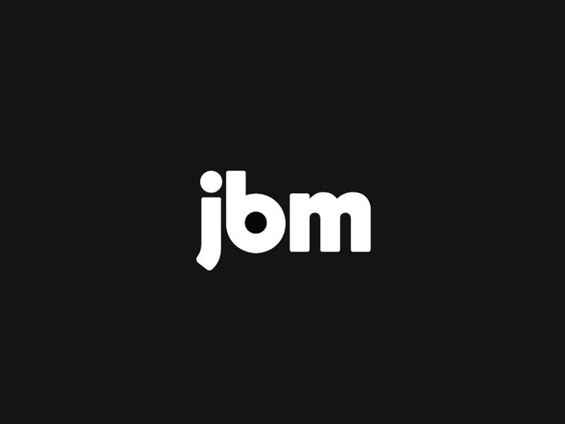 JBM logo V. 1 brand identity branding logo mark logotype type white black logo m b j