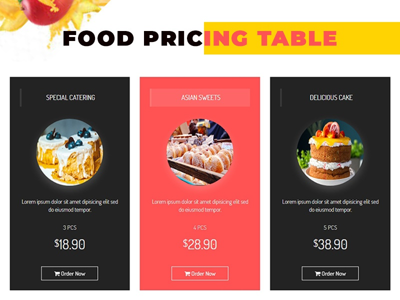 food pricing design by thecodude dribbble dribbble