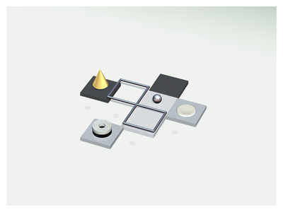 Metal Frames minimalist colors polygons low poly 3d ios game