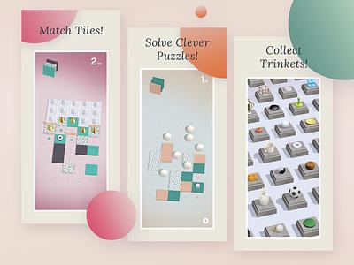 App Store Screenshots branding app ui squares polygons minimalist low poly colors 3d ios game