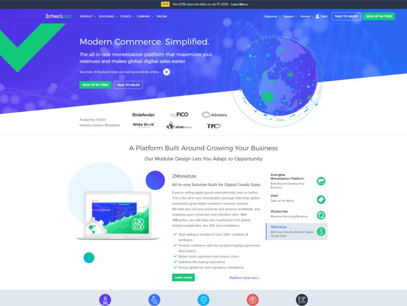 2Checkout Website Design