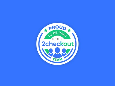 Proud to Be Part of the 2Checkout Team Badge