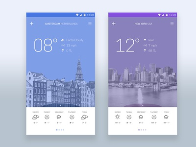 Daily UI Challenge 037 - Weather