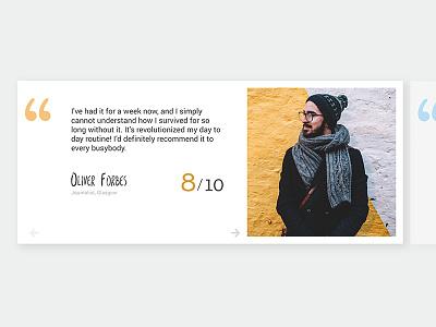 Daily UI Challenge 039 - Testimonials daily ui challenge daily ui ui ux app design web design graphic design testimonials