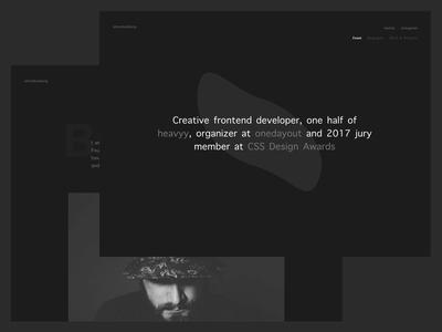 R E M A K E –– Personal website, version 107