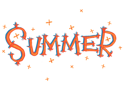 Just some Letters typography handlettering vector lettering type color summer
