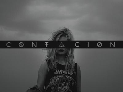 C O N T A G I O N symbol typography grunge apocolypse black shape branding logotype