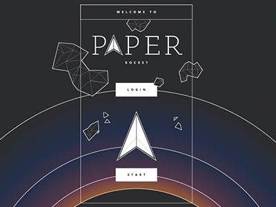 Paper Rocket paper rocket app game space planet high score game over race glow lines