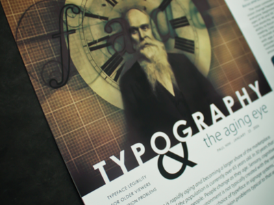 Typography & the Aging Eye Spread