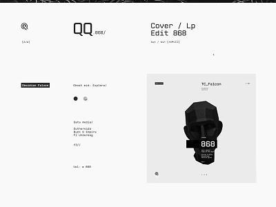 [868 / DCCCLXVIII] vinylcover cover lable vinyl web black minimal sound music album