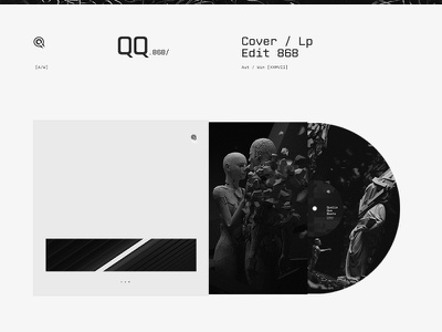 [868 / Box_Lp] album music sound minimal black web vinyl lable cover vinylcover