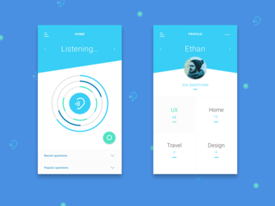 Voice Activated Search App - UI Concept
