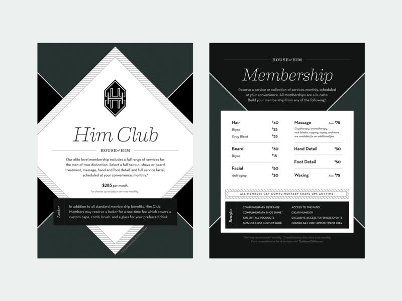 House of Him - Membership Postcard postcard print design print