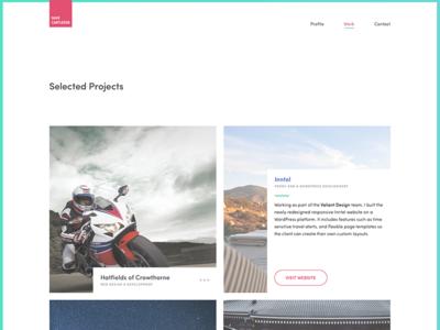 Freelance Portfolio Design developer front-end designer design ui freelance portfolio