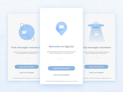 Egeote Onboarding app illustration character clean onboarding design flat icon mobile vector ui ux