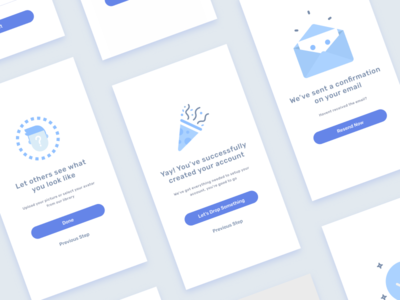Egeote User Onboarding clean minimal illustration ux ui mobile ios interface concept app
