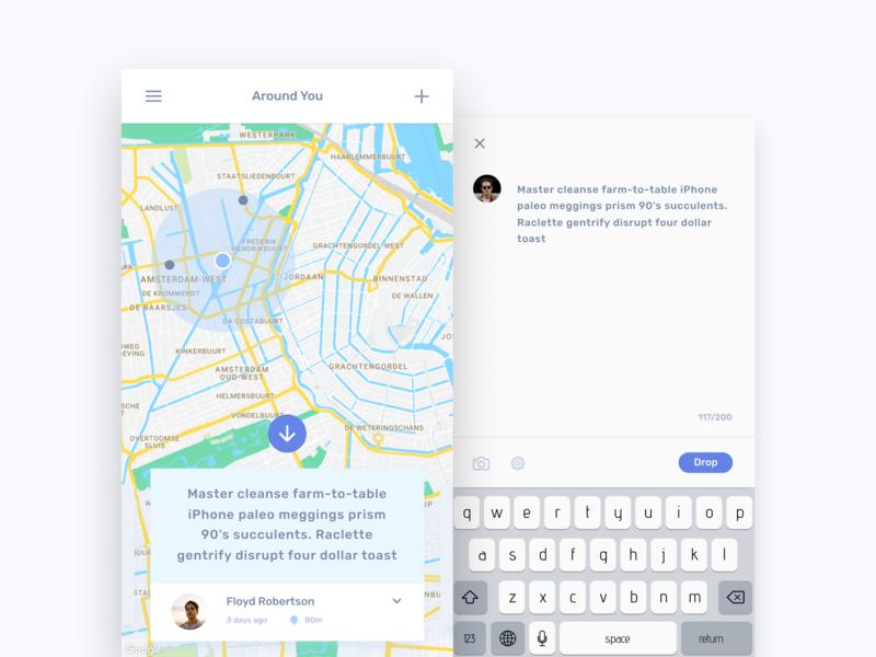 Egeote Drops ios interface minimal concept app mobile inspiration clean ux ui design