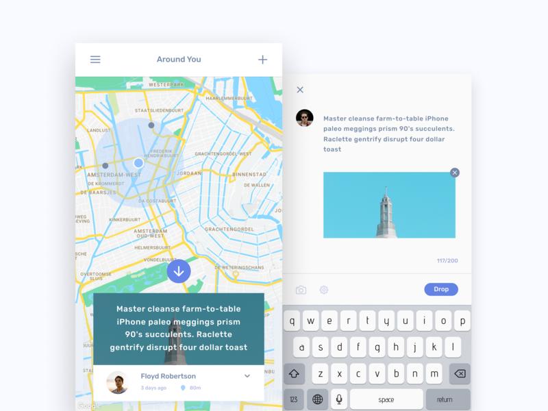 Egeote Drops(Images) ux ui mobile minimal ios interface desiginspiration app design design app concept concept clean app