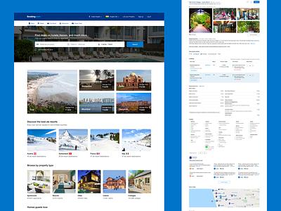 Booking.com Website Redesign Concept listing redesign concept booking.com dashboard web design ui sketch