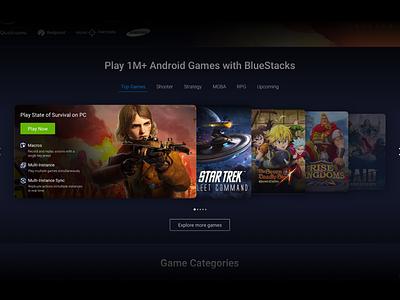 Top Games Slider UI Concept slider web design ui sketch