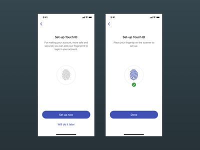Mobile Verification Touch ID UI Concept fingerprint touch id iphone x design ui sketch