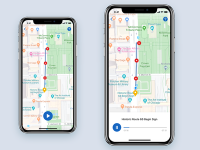 Audio Tour App Map View
