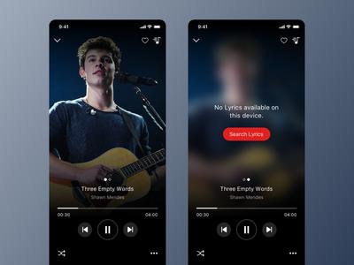 Music Player and Lyrics App UI Concept